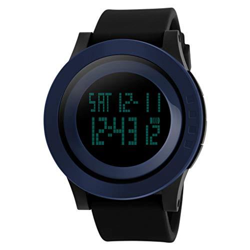 Haludock Herren Sport Digitaluhr Shock Resistant 50M wasserdicht Military Digitaluhren mit Alarm/Timer großes Gesicht Outdoor Sport LED-Armbanduhr (Strap Loop G-shock Watch Band)