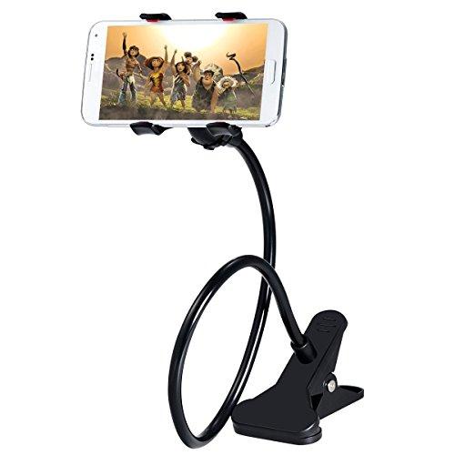 Hosaire 1X Phone Holder, supporto telefono universale porta cellulare clip, staffa pigro flessibile braccia lunghe per iPhone 6 plus / 6 / 5s / 5 / 4S / 4, dispositivi GPS, supporto mobile attacco per Nero