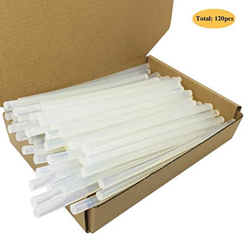 DDSTG 120 Stücke Heißkleber Sticks 7x100mm Transparent Klebstoff für 7mm Heißklebepistole - Transparent