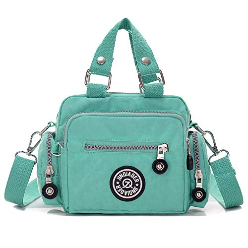 Umhängetasche wasserdicht Schulter Diagonale Tasche weiblichen Waschlappen tragbare Handtasche grün -