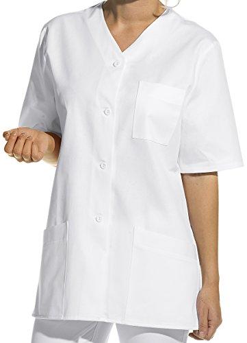 LEIBER Hosenkasack - Damen-Kasack - kurzarm - weiß - Größe: 42 - Blazer Arzt,