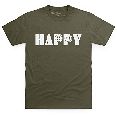 Official Two Tribes Emoji - Happy T-Shirt, Herren Olivgrn