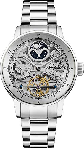 Ingersoll The Jazz Mens Automatic Watch I07703 with a Silver Dial and a Silver Stainless Steel Band