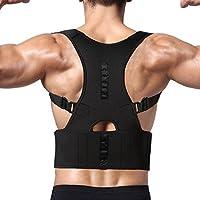 Dekool Correttore di Postura Schiena Supporto Traspirante Indietro a Fascia Regolabile Postura Correzione Cintura di Sostegno Iombare per Uomo o Donna (XL)