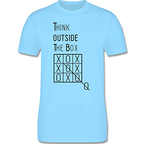 Statement Shirts - Think outside the box - Herren Premium T-Shirt Hellblau