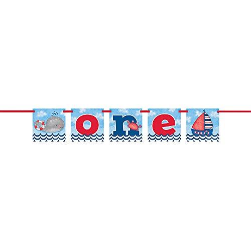 Unique Party Nautical 1st Birthday Block Banner - 12 Feet