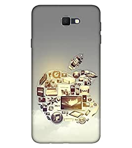 Takkloo Silver background ( Symbol of a brand, Electrnic brand sign, classy phone cover) Printed Designer Back Case Cover for Samsung Galaxy J7 (2017) :: Samsung Galaxy J7 2017