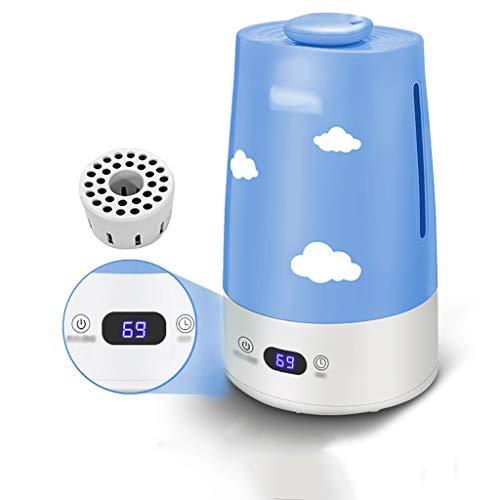 Qi Tai - Humidificador de aire del hogar Purificador de aire acondicionado: humidificador silencioso, mini máquina de aromaterapia pequeña, humidificación inteligente por ultrasonidos, función de falt