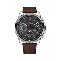 Tommy Hilfiger Men'S Grey Dial Brown Leather Watch - 1791562