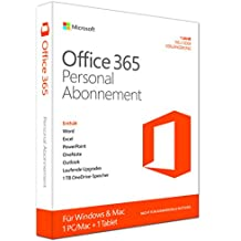 Microsoft Office 365 Personal - 1 PC/MAC - 1 Jahresabonnement - multilingual (Product Key Card ohne Datenträger) [import allemand]