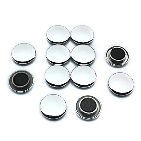 first4magnets 30 x 8mm Medium Notice Board/Planning Magnets for Office and Fridge - Silver (Pack of 12)