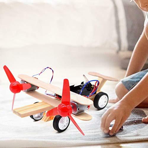 Mitlfuny Kinder Erwachsene Entwicklung Lernspielzeug Bildung Spielzeug Gute Geschenke,DIY Kinder Wissenschaft Bildung Experiment Spielzeug elektrische Segelflugzeug Flugzeug Modell