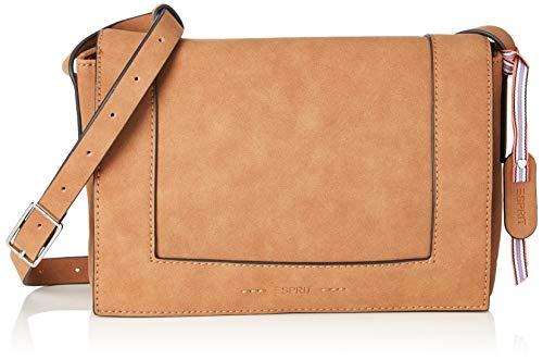 Esprit Accessoires Damen 019ea1o012 Umhängetasche, Braun (Rust Brown), 6x18,5x26 cm