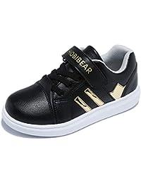 Shoes Calzado Casual Transpirable de Cabeza Redonda para niños y niñas, Cuero, Calzados Informales Antideslizantes Antideslizantes Ligeros y Resistentes al Desgaste para niños