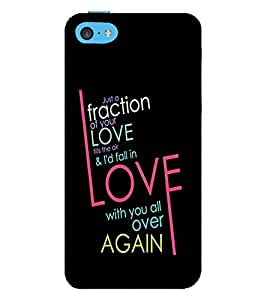 PrintVisa Designer Back Case Cover for Apple iPhone 5c (Mad About You Quote)