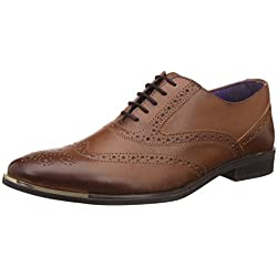 Knotty Derby Men's Vincent Brogue Tan Formal Shoes