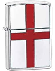 Zippo St. Georges Flag Emblem - Kits de superviviencia, color plateado