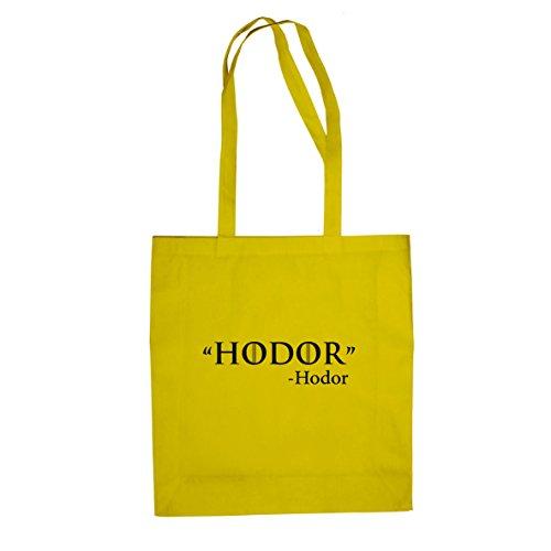 GoT: Zitat - Stofftasche / Beutel, Farbe: gelb (T-shirt Zitat Gelben)