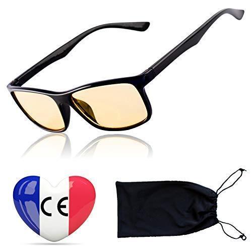 Gamingbrille Filter Hoher Schutz vor Blaulicht - Premium-Gläser Gaming Computerbrille Anti Blend Anti Müdigkeit auf PC-Screens - Gamer Spielbrille Blaulichtfilter