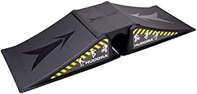 HUDORA 11116 2pieza(s) Negro rampa de monopatín - rampas de monopatín (60 kg, Negro, Caster board,Inline skates, 395 mm, 1135 mm, 165 mm)