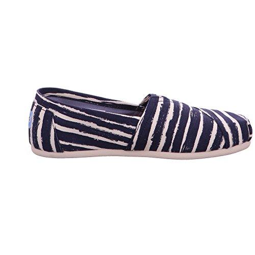Espadrilles Painted Stripe Bleu