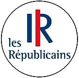 Die Republikaner–Französisch Politik–Buttons/Magneten/Schlüsselanhänger-Flaschenöffner (Magnet (58mm)), Badge (58mm), Keyring Bottle Opener (58mm)
