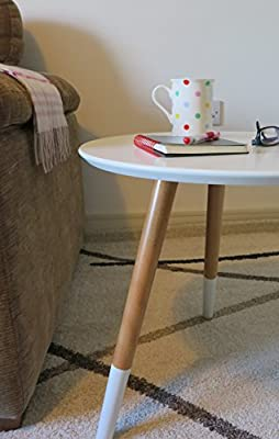 ASPECT Marco Round Side/End/Lamp/Coffee Table, Wooden, 48 x 46 cm_p