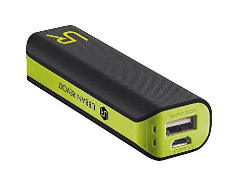 Trust urban powerbank 2200 mah caricabatterie portatile universale batteria esterna, nero/verde