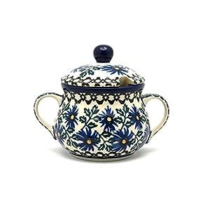 Polish Pottery Sugar Bowl – Blue Chicory