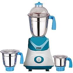 MasterClass Sanyo Blue-White Color 600Watts Mixer Juicer Grinder with 3 Jar ( 1 Large Jar, 1 Medium Jar and 1 Chuntey Jar)