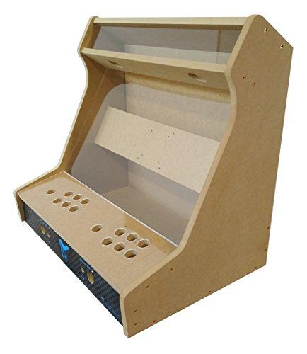 TALENTEC Kit bartop 24' en Madera DM + metacrilato acrílico para recreativa de sobremesa DIY. Orificios de 28 mm para joysticks y Botones.