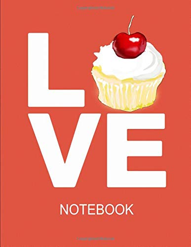 Notebook. For Cupcake Lover. Blank Lined Notebook Planner Journal Diary. Pie Liner