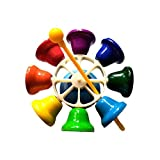Cloches à percussion, Cloches en métal diatoniques de note 8, cloche à main, cloches musicales pour enfants, enfants et tout-petits, instrument à percussion pour jouet musical par likeitwell