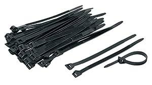 Collier de fixation extérieur noir Dhome - Dimensions 350 x 9 x 90 mm