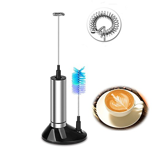 Elektrische Milchschäumer Handheld für Kaffee - Edelstahl Trinkmischer
