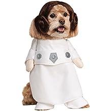 Rubie's Disfraz oficial de perro para mascota, princesa Leia, Star Wars – Pequeño