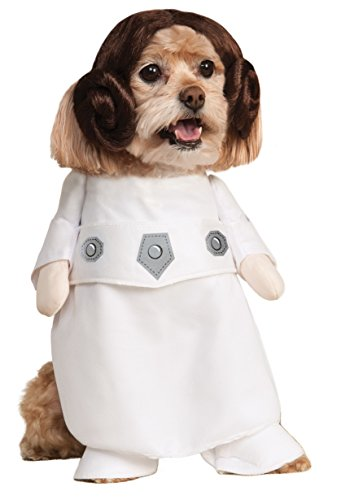 Rubie' s costume ufficiale pet dog, princess leia, star wars – small