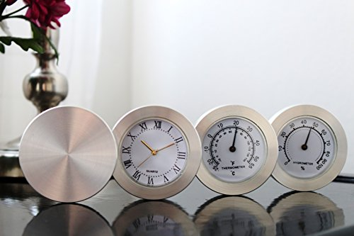 Tisch Uhren Schreibtisch Oder Kleiner (Business Büro Moderne Aluminium-Schreibtisch Tisch Uhr Dekoration Welt Mal Display Home Hotel Dekoration ideal Geschenk für Herren)