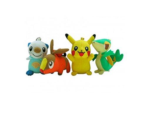 Pokémon Key Pendant ou Bag Clip Figure Peluche 10cm Sélection: Pikachu, Serpifeu,...