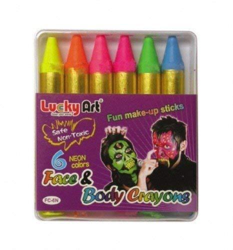 Partypackage Ltd Neon Gesichtsfarbe Crayons für Halloween Kostüm Zubehör