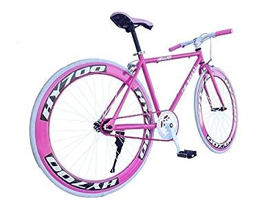 Helliot Bikes Erwachsene Fahrrad Single Speed Fixie Brooklyn H35, Rosa, M, 889957338578