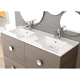 LAVABO SOBRE MUEBLE ART&BATH QUADRA 2 SENOS 1210X460 (NO INCLUYE MUEBLE)