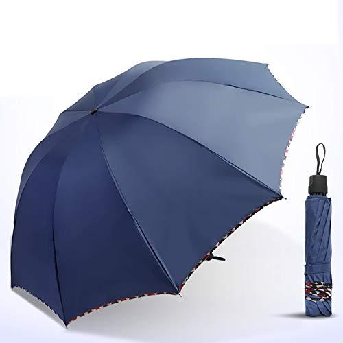 JYXJJKK Parapluie Soleil Pliant,Parapluie Double Extra-Large Parapluie-G