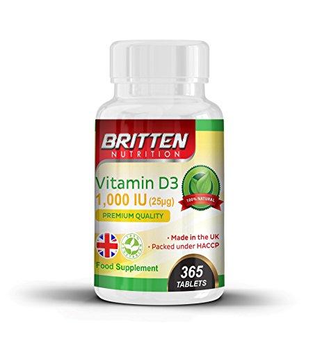 Vitamina D3 | 1000IU | 365 comprimidos - año completo de suministro | Vitamina D para hombres y mujeres | Fácil Tragar Comprimidos | 100% GARANTÍA DE DEVOLUCIÓN DE DINERO - Si usted no es feliz, entonces son GRATIS! |