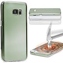 Urcover® Sony Xperia M4 Aqua | Funda Carcasa 360 Grados Ultra Slim Metálico | TPU en Verde | Case Cover Protección completa Smartphone Móvil Accesorio