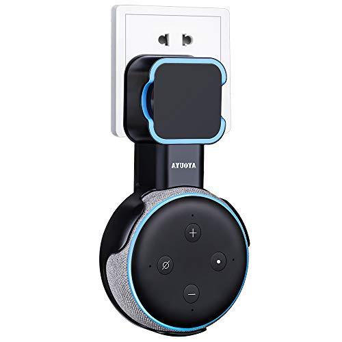 Echo Dot 3 wandhalterung, AYOUYA Echo Dot Halterung für Echo Dot (3. Gen.) Intelligenter Lautsprecher, Alexa Soundqualität Garantiert,Platzsparend und Kabel verbergen (Schwarz)