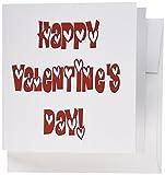 3drose Happy Valentinstag Herzen innen Text–Grußkarten, 15,2x 15,2cm, Set 12(GC _ 76728Bandsägeblatt _ 2)