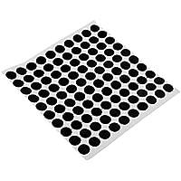 perfk Puntos de Mesa de Billar Negro (Hoja de 100) Palillo Auto-Adhesivo -1.2cm Diámetro