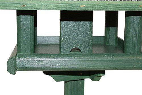 Vogelhaus mit Kupferdach und Fuss grün 155 cm Vogel Haus - 4