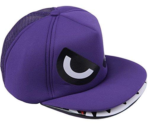 Smile YKK Enfant Chapeau Béret en Forme Requin Casquette Uni de soleil Bonnet Mode Outdoor Violet